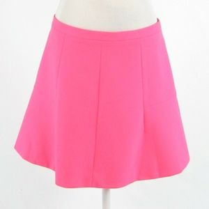 Bright pink J. CREW A-line skirt 10